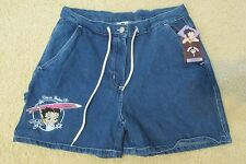 """New with Tags Vintage Women's Betty Boop """"Wave Babe"""" Blue Jean Shorts Size 9/10"""