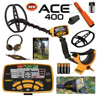 GARRETT ACE 400 Metal Detector With PRO-Pointer AT, HEADPHONES, DVD & MORE !