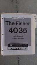 Fisher 4035 service manual original repair book stereo receiver am fm radio