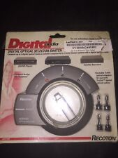 Recoton Digital Audio Optical Selector Switch ADS1000 *New*