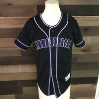 Arizona Diamondbacks True Fan Black & Purple Sewn Pullover Jersey Youth M 8-10