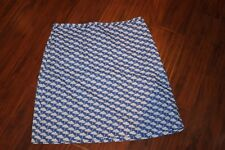 Boden blue w white umbrella Parasol pattern cotton skirt Ladies sz 12 U.S. (b98)