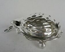 VINTAGE SILVER PLATED LIDDED DISH DECORATED WITH A FLOWER -  A BUTTER DISH ?