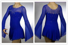 Blue Ice Figure Skating Dresses Custom  Competition Skating Dress Girls Ice Wear