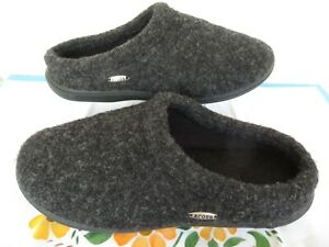 Acorn DIGBY ~ Men's Gray/Black Slippers Mules ~ Size 9-10 US ~ COMFORT ~ Nice