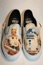 MENS SPERRY CLOUD DROIDS STAR WARS WHITE C-3PO R2D2 SLIP ON SIZE 10 M