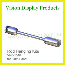 Hanging Rod Kits, Sign Fixings, Signage Holder from Ceiling - for 3mm Panel