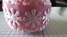 1M large-pink, MARGHERITE, passamaneria, Matrimonio, Raso Pizzo ribbon-width 3cm