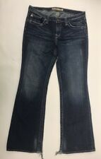 Big Star Womens Maddie Distressed Flare Jeans 30R Actual W34 L31