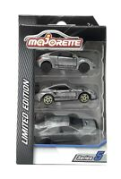Majorette Model Car metal Limited Edition Serie 5 Zamac 3 Pack Honda Porsche VW
