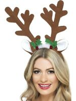 Reindeer Antlers Adult Unisex Smiffys Fancy Dress Costume Accessory