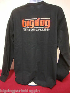 BIG DOG MOTORCYCLES 2XL LONG SLEEVE T-SHIRT SIGNATURE LOGO  K-9 CHOPPER PITBULL