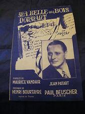 Partition Ma belle au bois dormant Jean Patard 1944 Music Sheet