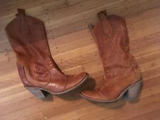Women's Teen's Junior's Kenneth Cole Brown Cowboy boots size9.5 GUC