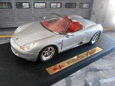 PORSCHE Boxster Studie Concept Roadster silber Maisto RAR 1:18