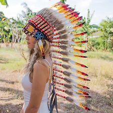 Beautiful INDIAN HEADDRESS Chief War bonnet Costume Native American Halloween