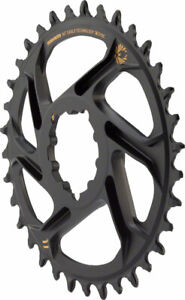 SRAM X-Sync 2 Eagle Chainring 34T Direct Mount 6mm Offset Black with Gold