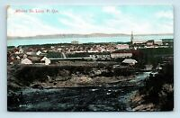 Riviere Du Loup, Quebec, CANADA - EARLY 1900s AIR VIEW OF TOWN - Postcard - C1