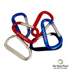 50 X Red Clip Hook Small Keyring Camping Sports Caribiner Carabiner 5 cm