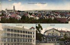 5110/Foto AK, Lutterbach, sanatorio, stazione, totale, 1917