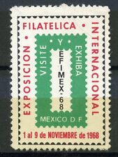 ERINNOPHILIE TIMBRE / VIGNETTE / EXPOSICION FILATELICA OF MEXICO 1968 MEXIQUE
