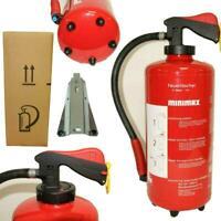 4 Stück  Minimax NEU Auflade Feuerlöscher  WH 9 nG  9 Liter  Wasser + Halterung