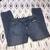 J.Crew Factory Size 36x34 Men's Sutton Denim Jeans in Medium Wash Straight Fit