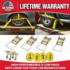12X New Lasso Wheel Lift Straps Ratchet J Finger Hook Tow Towing Tie Down Truck