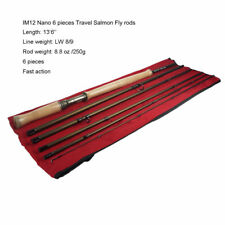 Aventik Salmon Fly rods IM12 Japan 6 pieces Fast Action Travel Rod 13'6'' LW8/9