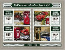Togo 2016 MNH Royal Mail 500th Anniv 4v M/S Post Box Morris Minor Van Stamps
