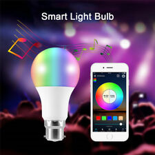 Bluetooth WIFI Smart B22 LED RGB Light Bulb Dimmable for Android APP Control