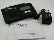 Oregon Scientific Wr608 Desktop Emergency Alert Radio with Manual