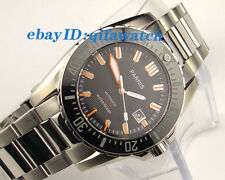 43mm Parnis Black Sapphire glass waterproof 200m Automatic men's dive watch E986