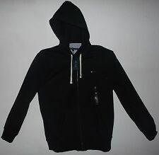 TOMMY HILFIGER Mens Black Fleece Hoodie Jacket  New Full  Zipper Heavy XL