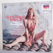 """33T Klaus WUNDERLICH Vinyl LP 12"""" Orgue HAMMOND POPS 10 Pin Up TELEFUNKEN 621152"""