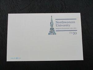 Northwestern University Sesquicentennial  USPS  Postal Card