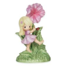 NEW Precious Moments YOU ARE MY HAPPINESS Porcelain Bisque Figurine Garden Girl