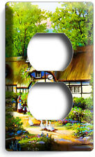 Old European Country Village Cottage House Outlet Wall Plates Kitchen Room Decor