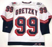 WAYNE GRETZKY 1999 NEW YORK RANGERS LIBERTY WHITE PRO PLAYER JERSEY SIZE MEDIUM