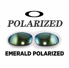 NEW AUTHENTIC Oakley XX X Metal Emerald Polarized Custom Cut OEM Lenses