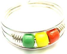 Bague de Pied Orteil Bijoux Argenté Métal Anneau perles rasta reggae Bob Marley