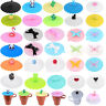 Silicone Antidust Leakproof Cup Cover Lid Reusable Seal Coffee Tea Drink Mug Cap
