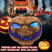 Evil Scary Pumpkin Lamp Holiday Party Halloween Decoration Prop With LED Lights