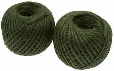 180m Green Jute Twine Ball Of Garden Tie Back String 150g Roll - Pack of 2