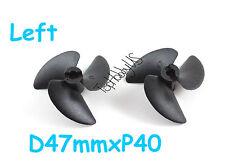 "2pcs D47mmx P40, 3-Blade Nylon RC Boat Propeller for 3/16"" Shaft US TH038-00201"