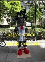 Reindeer Mascot Costume Suit Cosplay Party Game Dress Outfit Halloween Adult Hot