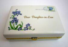 "2006 Ardleigh Elliott ""Dear Daughter in Law"" Lavender Porcelain Music Box"