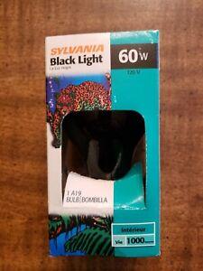 BRAND NEW SYLVANIA BLACK LIGHT BULB 60 WATT A19