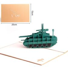 3D Pop Up Card Tank Baby Gift Holiday Graduation Creative New Hot Cards