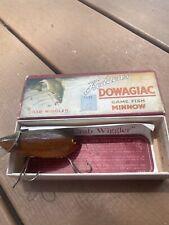 vintage heddon crab wiggler original box and paperwork antique fishing lure ex